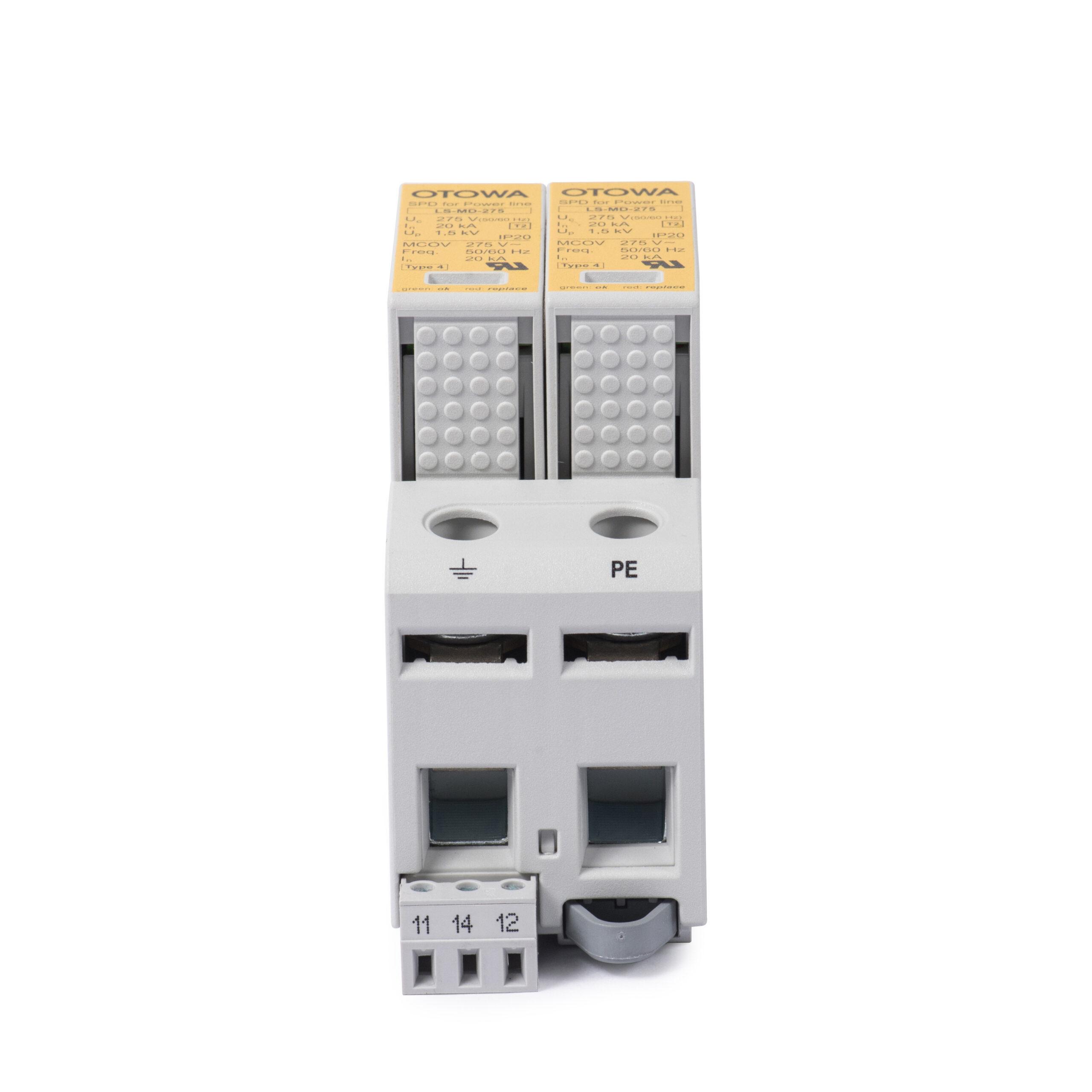 Otowa LS-N2720S phù hợp cho tủ tổng cấp 2, có điện áp định mức là 230V.