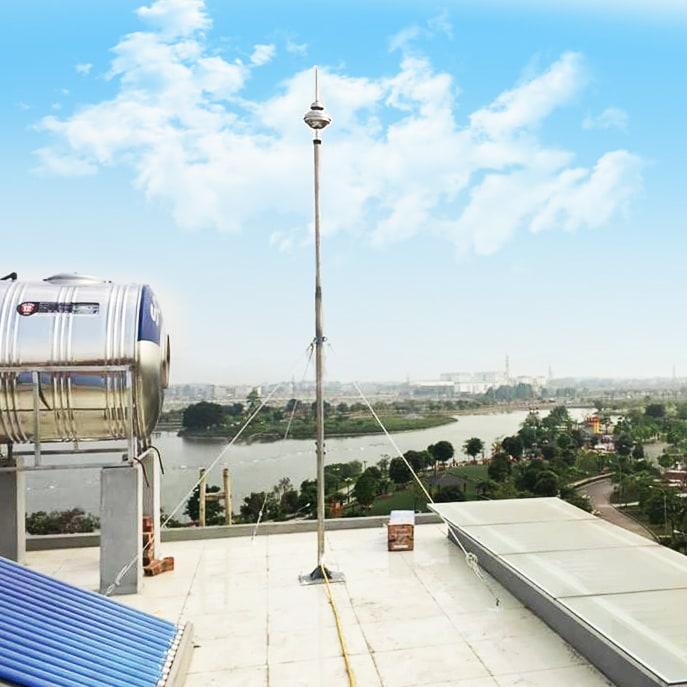 Tổng chiều dài kim thu sét công nghệ mới BAKIRAL-ALFAS dài 650mm.