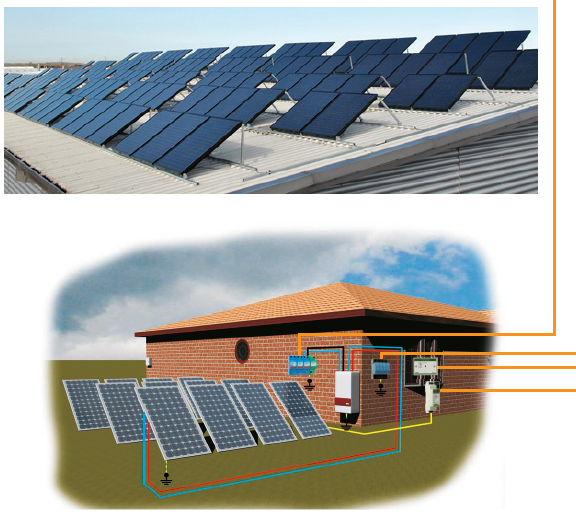 Giải pháp chống sét lan truyền giúp bảo vệ nhà máy điện mặt trời, tăng tuổi thọ thiết bị.